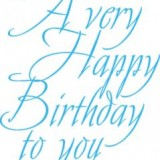 Stamp It 4065E Birthday To You Script*
