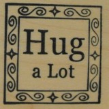 Outlines Rubber Stamp B-361 Hug A Lot