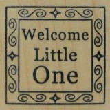 Outlines Rubber Stamp B-534 Welcome
