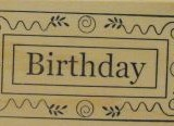 Outlines Rubber Stamp C-239 Birthday