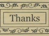 Outlines Rubber Stamp C-261 Thanks