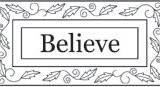 Outlines Rubber Stamps C-266 Believe – 1 only