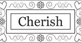 Outlines Rubber Stamp C-276 Cherish