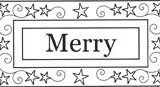 Outlines Rubber Stamps C-279 Merry