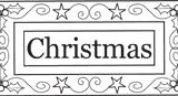 Outlines Rubber Stamps C-280 Christmas