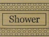 Outlines Rubber Stamp C-424 Shower