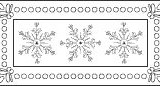 Outlines Rubber Stamps C-576 Triple Snowflake