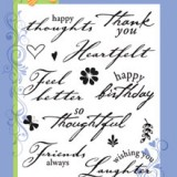 Hero Arts Clear Stamp CL150 Heartfelt Messages.. 1 only