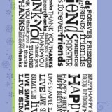 Hero Arts Clear Stamp CL226 Four Bold Messages..