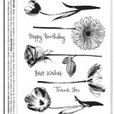 Darkroom Door DDRS003 Full Bloom Vol 1 Rubber Stamp Set