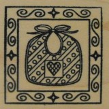 Outlines Rubber Stamp – B393 Bib Square Small