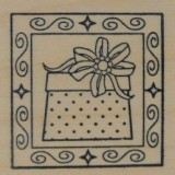 Outlines Rubber Stamp – B396 Gift Square Small