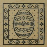 Outlines Rubber Stamp – B532 Decorated Egg Square Small