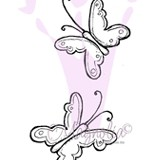 Magnolia Rubber Stamp – Butterflies*
