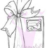 Magnolia Rubber Stamp – Christmas Present with Bow*