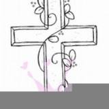Magnolia Rubber Stamp – Cross with Vine*