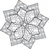 Outlines Rubber Stamp – D221 Funky Flower 1