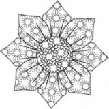 Outlines Rubber Stamp – E224 Funky Flower 2