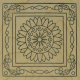 Outlines Rubber Stamp – E425 Sunflower Square Large