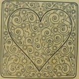 Outlines Rubber Stamp – H700 Sparkle Heart
