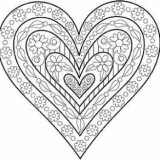 Outlines Rubber Stamp – I696 Layered Heart
