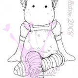 Magnolia Rubber Stamp – Pink Tilda with Striped Tights*