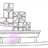 Magnolia Rubber Stamp – Sled with Presents*