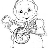 Magnolia Rubber Stamps – Snoowie With Bells*