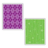 655837 Sizzix Argyle Lines & Circles Embossing Folder