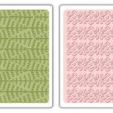 657062 Sizzix Evergreen & Snow Flowers Embossing Folders:
