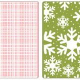 657064 Sizzix Plaid & Snowflakes Embossing Folders: