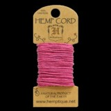 HMC20BRPK 20lbs Hemp Cord Mini Card (6.1m) – Bright Pink