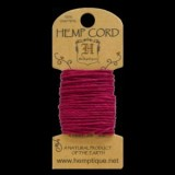 HMC20DKPK 20lbs Hemp Cord Mini Card (6.1m) – Dark Pink