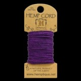 HMC20DKPUR 20lbs Hemp Cord Mini Card (6.1m) – Purple