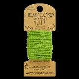HMC20LMGR 20lbs Hemp Cord Mini Card (6.1m) – Lime Green