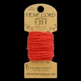 HMC20RED 20lbs Hemp Cord Mini Card (6.1m) – Red – out of stock