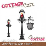 Cottage Cutz – Lamp Post with Signs 4×4