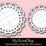 MFT Dienamics – Open Scallop Doily Duo..
