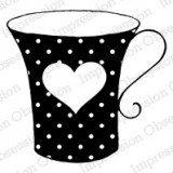 E9160 Dotted Heart Cup* (Wood)