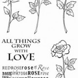 Woodware Clear Stamps – 4 Roses JGS568**
