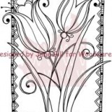 Woodware Clear Stamps – Love Tulips..