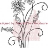 Woodware Clear Stamps – JGS326 Delicate Daisies**