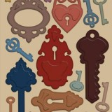 Heartfelt Creations – HCD741 Burnished Keys**