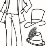 Dyan Reaveley's Couture Clear Stamp (9×5″) * Man About Town