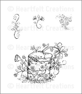 Heartfelt Creations HCPC3518 Vintage Watering Can..