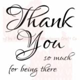Woodware Clear Stamps – FRS190 Scripted Thank You – out of stock