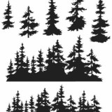 Stampers Anonymous CMS244 Tree Line..