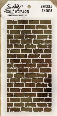 Tim Holtz THS038 Bricked Stencil – out of stock