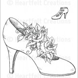 Heartfelt Creations – HCPC-3702 Heels and Roses..