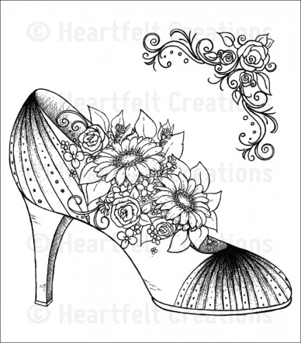 Heartfelt Creations – HCPC-3703 All Glammed Up Shoe..
